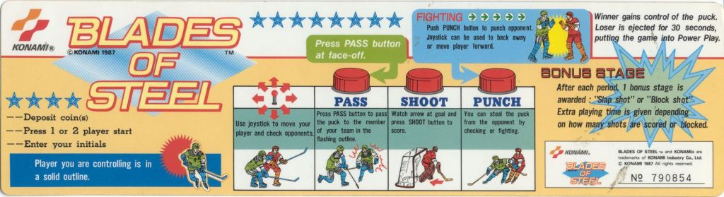 Blades of Steel Instruction Card
